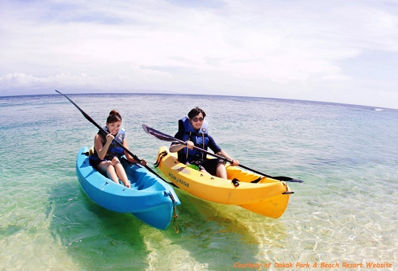 Canoeing and Kayaking at Dakak Park and Beach Resort
